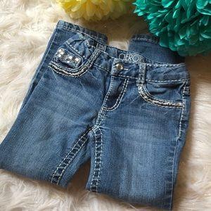 Sequin stud skinny jeans